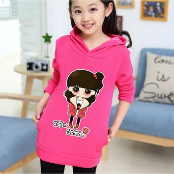 Quality Spring Autumn Girl T-Shirt Cotton Baby Tops Tee Casual Pullover Kids Clothes Hooded T Shirts Infantil Children Clothing