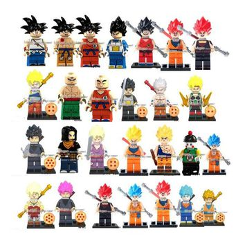 Single Sale Building Blocks Dragon Ball Series Z Figures Goku Vegeta  Perfect Cell Majin Buu Gohan 4cd9cecf0b09