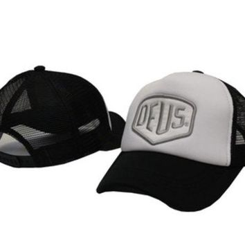 ONETOW Deus Women Men Embroidery Mesh Cap Bboy Hip Hop Baseball Cap Hat