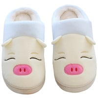 Pig Animal Pattern Indoors Antie-Slip Slippers