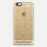 Golden Sail Away (transparent) iPhone 6 case by Lisa Argyropoulos | Casetify