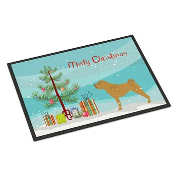Shar Pei Merry Christmas Tree Indoor or Outdoor Mat 24x36 BB2970JMAT