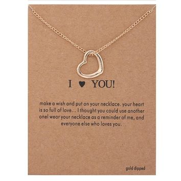 I Love You Necklace & Pendant