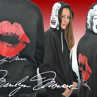 Marilyn Monroe Clothing - Signature Hoodie Hooded Sweatshirt EXCLUSIVE