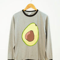 Avocado Tee Shirt Funny Tee Shirt Graphic Shirt Teen Shirt Fashion Shirt Unisex Shirt Women Shirt Men Shirt Ringer Shirt Long Sleeve Shirt