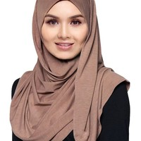 Womens Lightweight Poly Cotton Jersey Hijab Scarf