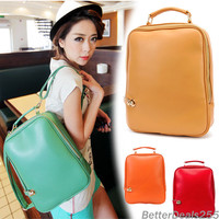 Casual Preppy Style PU Leather Backpack Handbag Shoulder Bag New Women's Retro