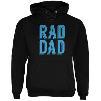 Fathers Day - Rad Dad Black Adult Hoodie