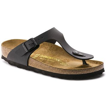 Birkenstock Gizeh Birko Flor Black 0043691/0043693 Sandals - Best Deal Online