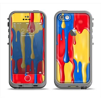 The Vector Paint Drips Apple iPhone 5c LifeProof Fre Case Skin Set