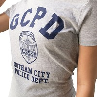GCPD Gotham City Police Department Athletic Grey Womens T-Shirt | LeRage