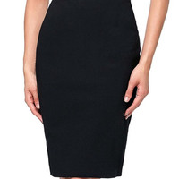 Skirts 2017 Hot Women's Solid Color High-Stretchy Hips Wrapped Pencil Skirt Jupe Sexy knee length Laides Pencil Skirt summer
