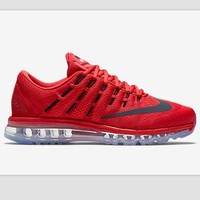 """""""NIKE"""" Trending AirMax Toe Cap hook section knited Fashion Casual Sports Shoes Red bla"""