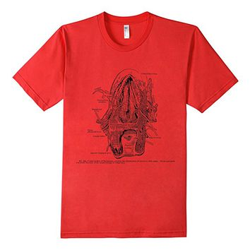Vintage Anatomy Nerves of the Human Tongue Tee T shirt