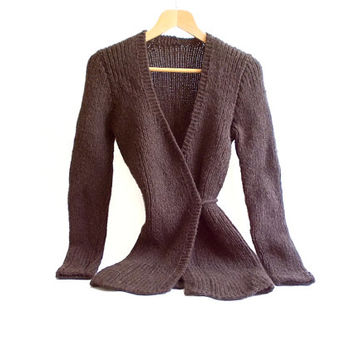 CHOOSE your COLOR // Knitted Cardigan, Long Cardigan, Brown Cardigan, Fashion Cardigan, Stylish, Knitting long cardigan, Knit Medium sweater
