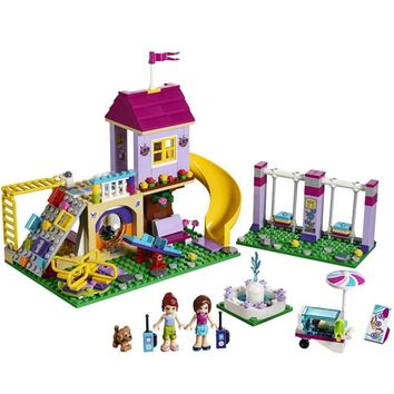 New Girl Heartlake City Playground Building Blocks Bricks Education Sets Toys For Girls Gift With Legoinglys Friends 41325