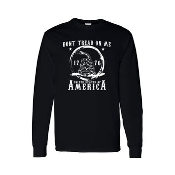 Men's Long Sleeve Shirt Dont Tread On Me: United States Of America