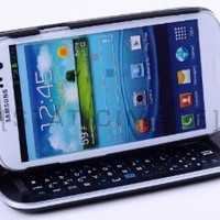 StaticTek Ultra Slim Samsung Galaxy S III S3 Bluetooth Keyboard Sliding Stand Case/Cover + Standing Function + Backlight Function + 12 Button Specially Designed for Samsung Galaxy i9300 S3 SIII (Black)