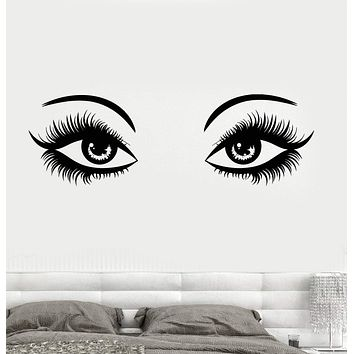 Wall Decal Eyes Make Up Sexy Girl Woman Spa Beauty Salon Girl's Room Vinyl Sticker Unique Gift (z3250)