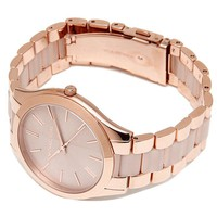 Michael Kors Women's Slim Runway Rose Gold Tone Stainless Steel Watch MK4294