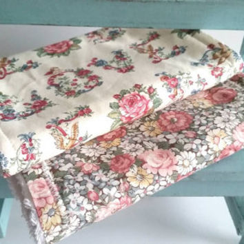 Shabby Chic Baby Burp Cloths - Vintage Floral Baby - Baby Burp Rags - Country Baby Items - Shabby Chic Baby Items - Beige Floral Burp Rag
