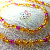 Custom Design Baltic Healing Amber Necklace and Matching Bracelet Set - Please send a convo before ordering to confirm choices