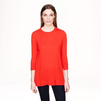 NWT J.Crew Lightweight Merino Wool Tunic in Red, Medium