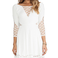 Free People To The Point Mini Dress in White