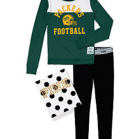 Green Bay Packers Crew and Logo Waist Leggings Gift Set - PINK - Victoria's Secret
