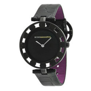 BCBG Maxazria Women's 'Florence' Leather Vintage-inspired Watch | Overstock.com