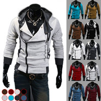 Autumn & Winter Fashion Casual Slim Cardigan Assassin Creed Hoodies Sweatshirt Outerwear Jackets Men size 6XL