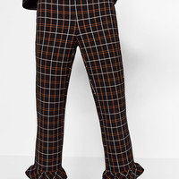 CHECK CROPPED TROUSERS DETAILS