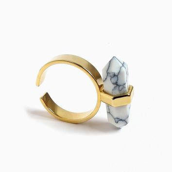 Spear Marble Ring (Gold)