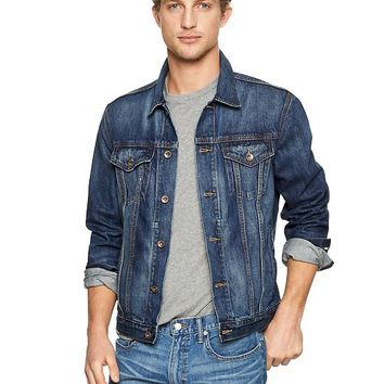 Gap Men 1969 Heritage Denim Jacket Medium Blue Wash