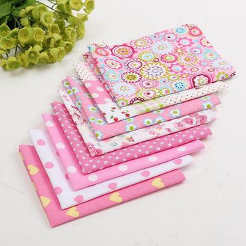 8pcs/Lot Pink Cotton Fabric Patchwork Batiks Mixed Squares Bundle Quilt Fabric Cloth Sewing Craft For Scarves Dresses Mayitr