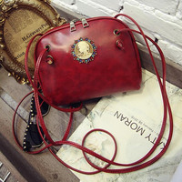 Vintage Retro Lady Leather Handbag Shoulder Bag Fashion Lady Messenger Crossbody Bag Girl Purse Tote Women Satchel Gift