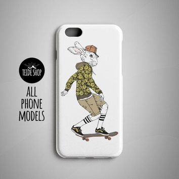 Hare Skater iPhone 8 Case iPhone 8 Plus Case Skate Art Painting iPhone 7 Case iPhone 6S Case iPhone 7 Plus Case Phone 6 Case Rabbit Painting