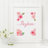 Name, Peyton, peyton wall art, instant download, printable download, name wall art, typography, peyton name, name peyton