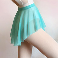 Aquamarine Mesh Ballet Dance Skirt - SAB Style- Royall Dancewear- Lyrical- Pull On