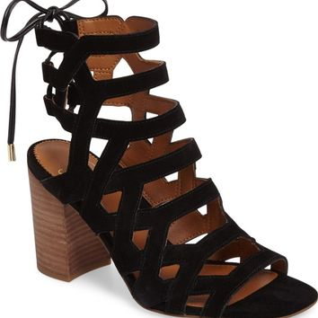 SARTO by Franco Sarto Connie Block Heel Cage Sandal (Women) | Nordstrom