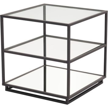 Kure End Table, Distressed Black