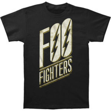 Foo Fighters Men's  Slanted Logo Black Slim Fit T-shirt Black