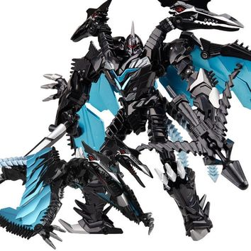 weijiang Oversize 21-27CM Anime Transformation Dinosaur Kids Toys Dragon Robot  Alloy Action Figures Brinquedos Classic Toys Boy