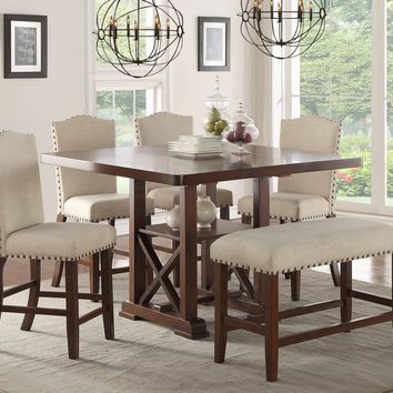 Counter Height Table+ 4 High Chairs+ HIGH BENCH