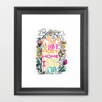 What I Love Most About My Home... Framed Art Print by Matthew Taylor Wilson