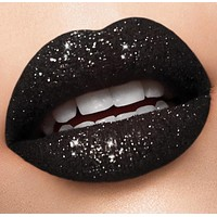 Black & white glitter lip collection