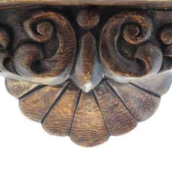 Vintage Hand Carved Ornamented Rustic Wood Console of 2