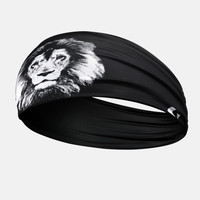 Black Lion Wide Headband