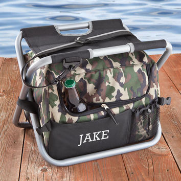Deluxe Camouflage Sit N Sip Cooler