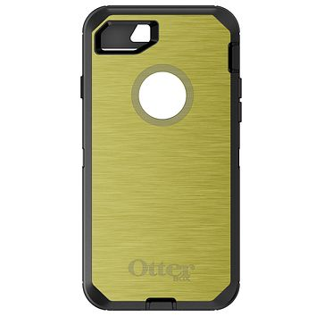 DistinctInk™ OtterBox Defender Series Case for Apple iPhone / Samsung Galaxy / Google Pixel - Yellow Stainless Steel Print